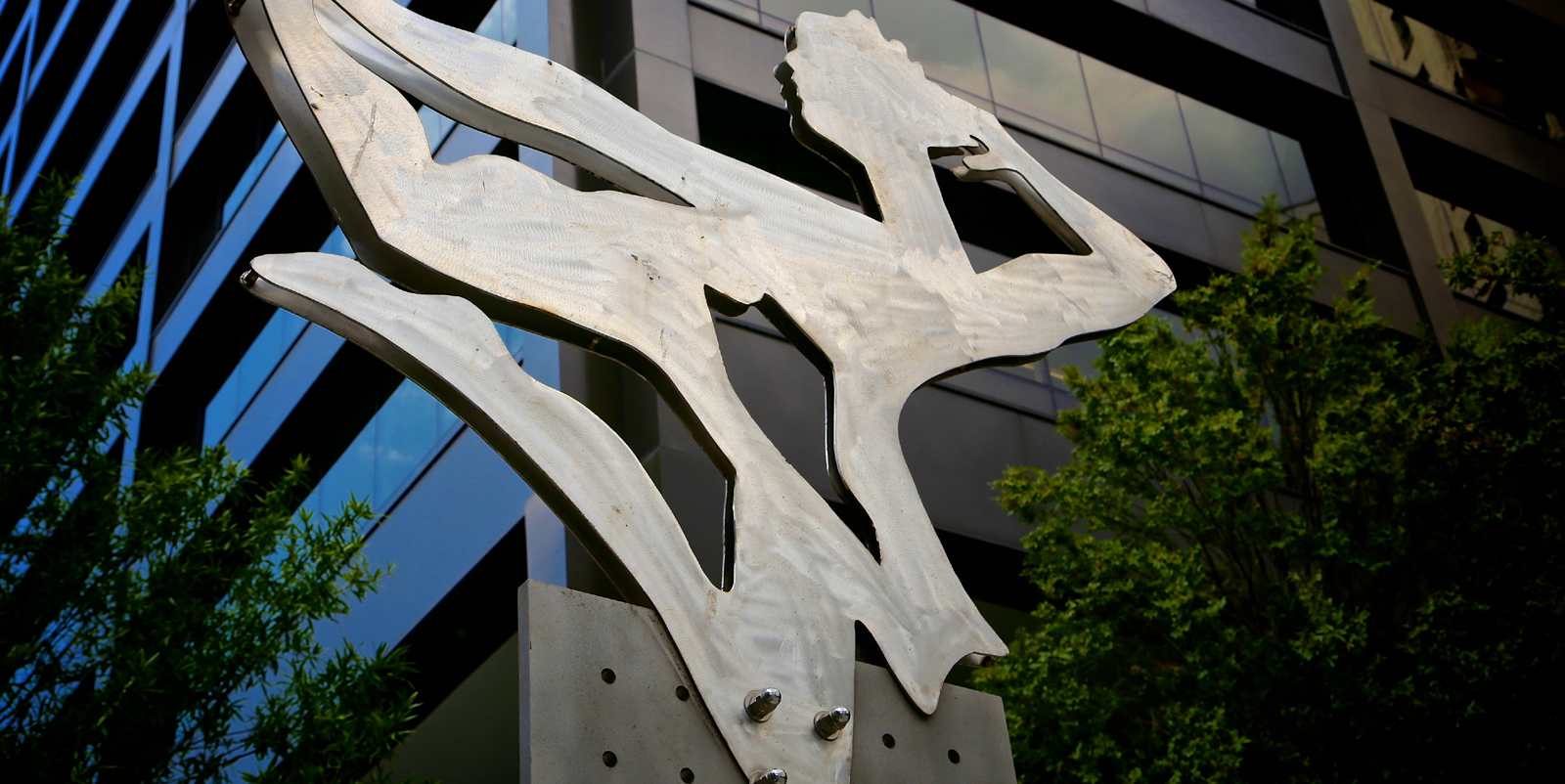 Metal sculpture outside of Zeller property 100 Peachtree Street