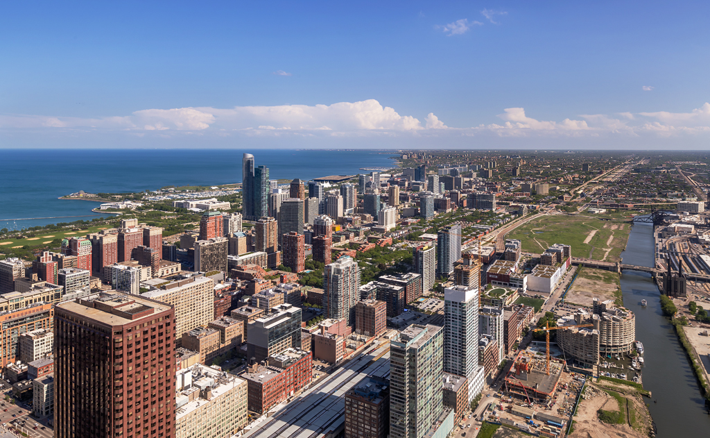 View of the City of Chicago from 311 South Wacker