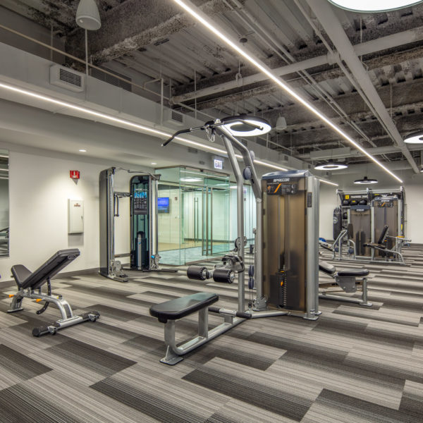 Weight machines in the Zeller owned Commerce Plaza office building located in Oak Brook, IL.
