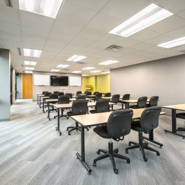 One of the conference rooms available at the Zeller property of Castle Creek in Indianapolis.