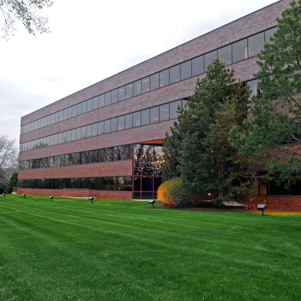 Back of the Deer Creek Corporate Office building located in Brookfield, WI.