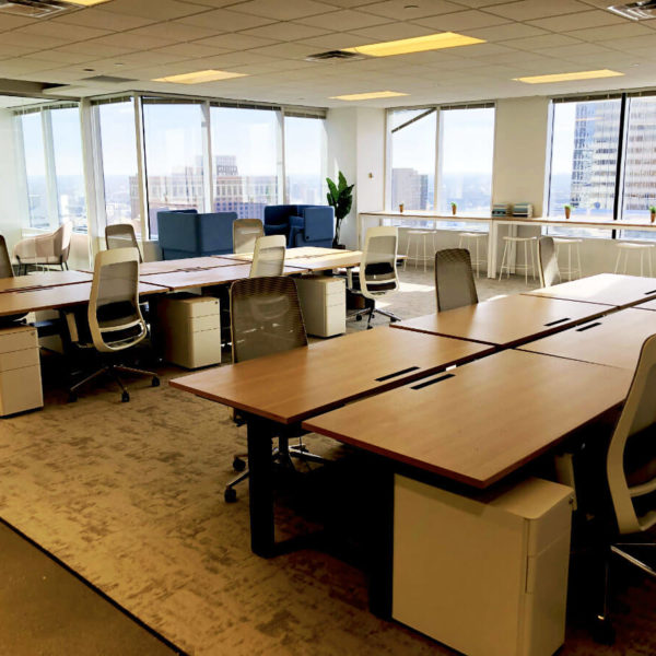 A spec office suite in the Zeller managed LaSalle Plaza office building in Minneapolis, MN.