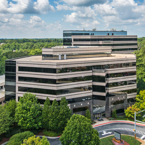 The entire Premier Plaza office building managed by Zeller Real Estate Group located in Atlanta, GA.